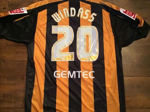 2006 2007 Hull City Windass Player Issue Home Football Shirt XL